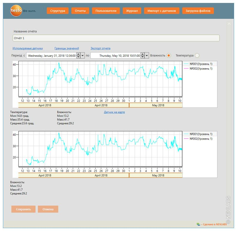 Software - viewing the reports for Testo